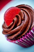 Easy Rhubarb Cupcake Ideas - Chocolate Rhubarb Cupcake