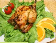 Roasted Chicken in Orange Juice and Parsley