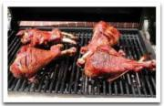 Tips on grilling a turkey leg with brine solution.