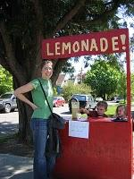 Set up a lemonade stand and sell the refreshing drink for hot summers.