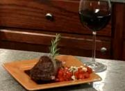 Rosemary Pepper Crust Tenderloin Steaks With Honey Shiraz Glaze