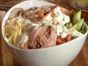 Fresh Chef Salad with Homemade Ranch Dressing - Be Creative