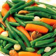 Fresh vegetables as side dish