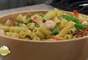 Rigatoni Pasta Salad with Shrimp and Bacon