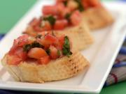 Tomato and Basil Bruschetta by Tarla Dalal