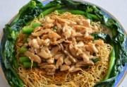 Fried Noodles with Chicken and Kai-lan