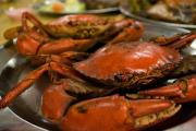 Grilled crabs.