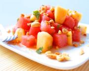 Chilled melon salad for Christmas breakfast menu