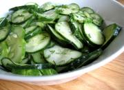 Cucumber Salad With Wine Vinegar