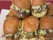 Super Bowl Recipe: BBQ Pulled Pork Sliders with Creamy Cole Slaw