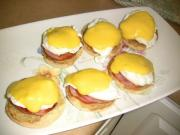 Learn how to serve egg benedict with sauces