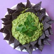 Yummy guacomale dip with organin tortilla chips