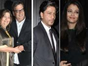 Aishwarya Rai & Shahrukh Khan at Subhash Ghai's Birthday Bash