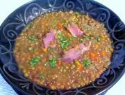 Braised Ham Hock Lentil Soup