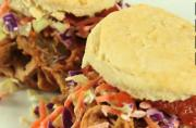 Pulled Pork Sandwich With BBQ Sauce And Cole Slaw