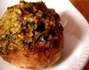 Mushrooms Stuffed With Turkey