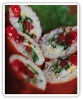 The Farm Brown Rice Roll with Citrus Soy Sauce