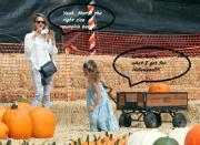 Jessica Alba and her daughter shop for pumpkins