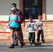 Britney Spears, sons at McDonalds.