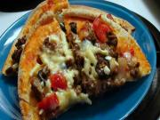 Greek Style Beef Pita Pizzas