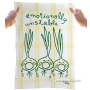 Emotionally Unstable Dish Towel: Funny Dish Towel