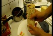 Ultra Fast Fava Bean Burrito with Cheese and Special Spices