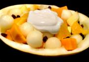 Fruit With Egg Sauce