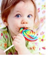 Colorful food is poisonous for children