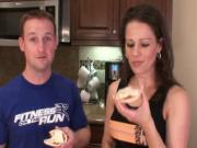 Super Simple Snack Series Part 2 Marinara Rice Cake Snack Jon and Julieanna