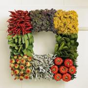 Vegetable wreath