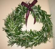 Wreath made of rosemary