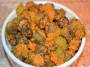 Bhindi Fry - Okra Fry - Eliminating Deep Frying