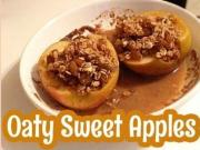 Sweet Oat Filled Apples