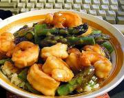 Prawns With Asparagus