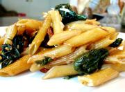 Penne Pasta With Spinach And Tomatoes