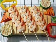 Shrimp Shish Kebob with Cherry Tomatoes and Spicy Seasoning