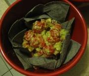 Tomato and Avocado on Tortilla Chips