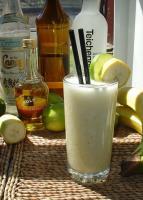 A glass of banana daiquiri