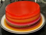 How to make a Jelly / Jello Rainbow Cake