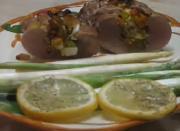 Stuffed Pork Loin And Steamed Asparagus