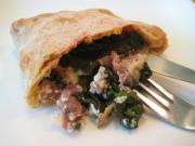 Spinach and Prosciutto Calzone