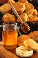 Yummy Jar of honey and a honey dip