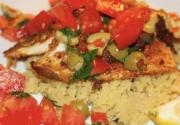 Pan Fried Tilapia with Fresh Tomato and Olive Salsa