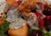 Healthy Fresh Fruit Salad Tossed With Salad Greens
