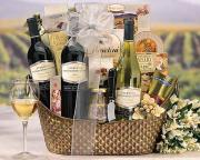 wine and cheese basket is a perfect gourmet christmas gift