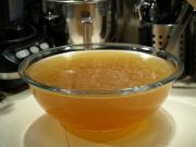 Chicken stock can be made at home and stocked for future use