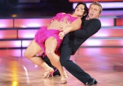 Ricki Lake and her DWTS Professional Dance Partner Derek Hough