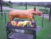 Barbecuing a pig over a spit roast can be an event in itself