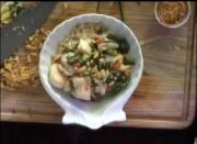 Sea Scallop and Peanut Stirfry with Honey Peanut Sauce
