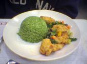 Arroze verde is a green rice recipe which is quite popular in Mexico